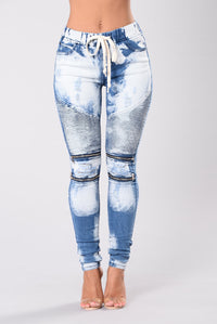 Rocking The Moto Jeans - Blue