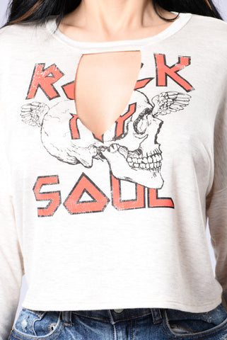 Rock My Soul Top - Heathered Blush