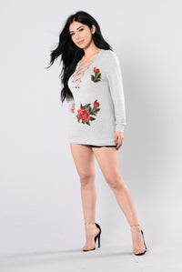 Monica Rose Top - Heather Grey