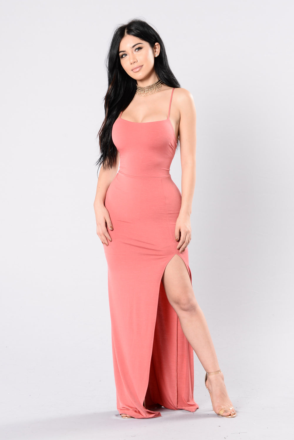 Over Complications Dress - Dark Coral