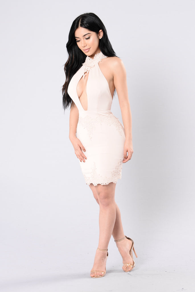 Just Me Dress - Nude