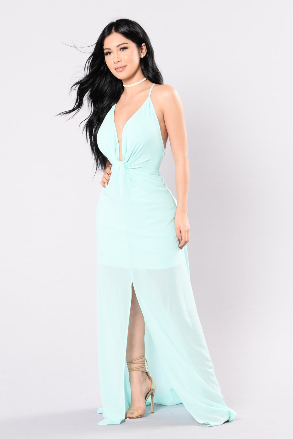 I Come First Dress - Mint