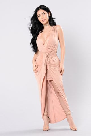 I'm Coming for You Dress - Mauve