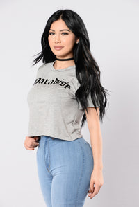 Paradise Tee - Heather Grey
