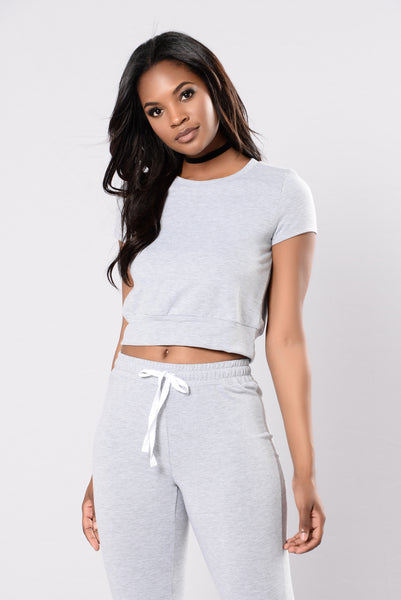 Set For Life Top - Grey
