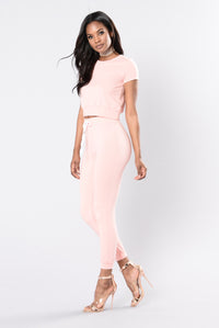 Set For Life Top - Blush