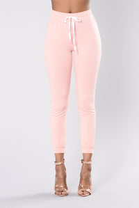 Set For Life Joggers - Blush