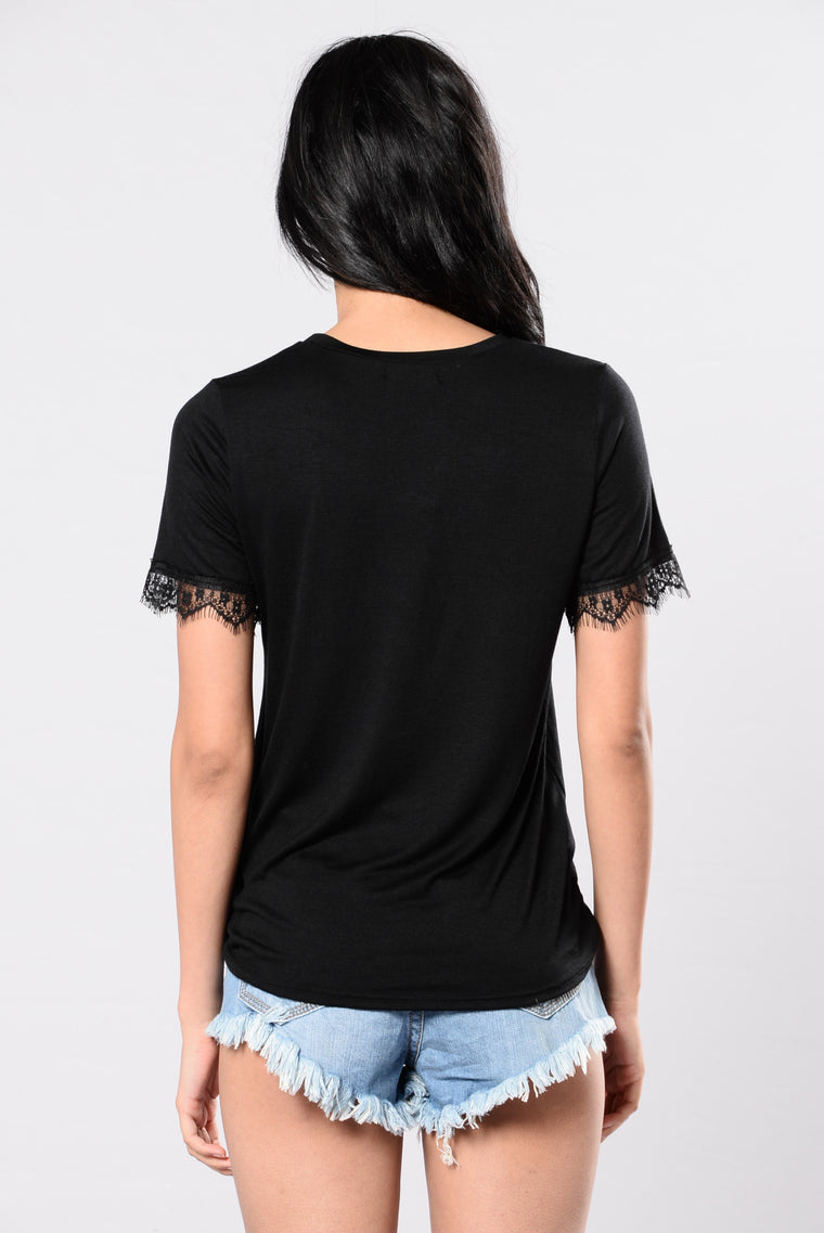 Rockin Side To Side Top - Black