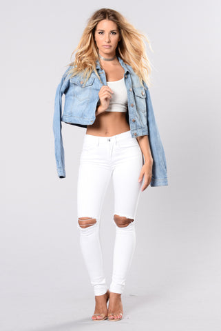 I'm Home Bound Jeans -White