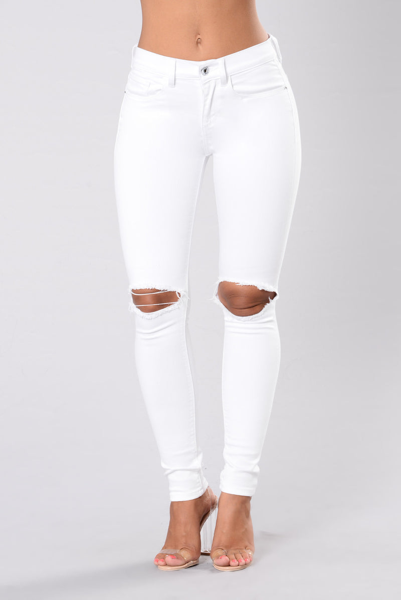 I'm Home Bound Jeans - White