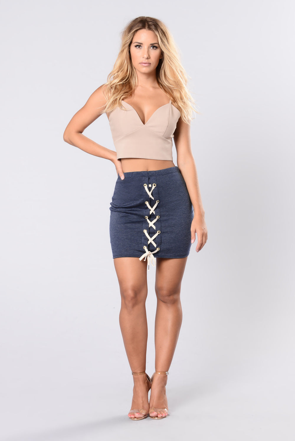 Where I Went Wrong Skirt - Denim Blue