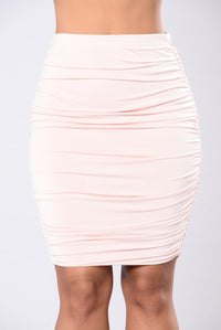 Girls Girls Girls Skirt - Light Mauve