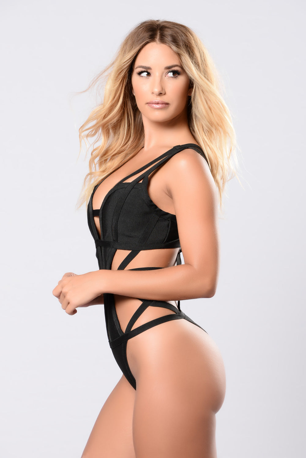 Stationed By The Pool Monokini - Black