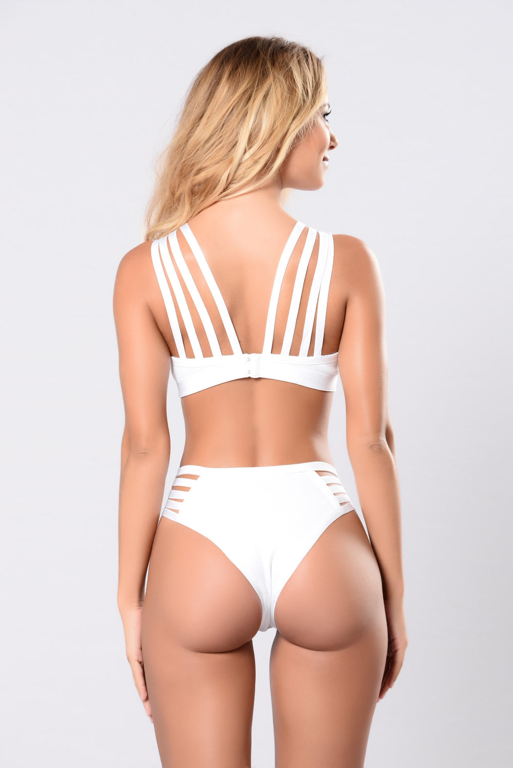 Savanna Swimwear Bandage Monokini - White