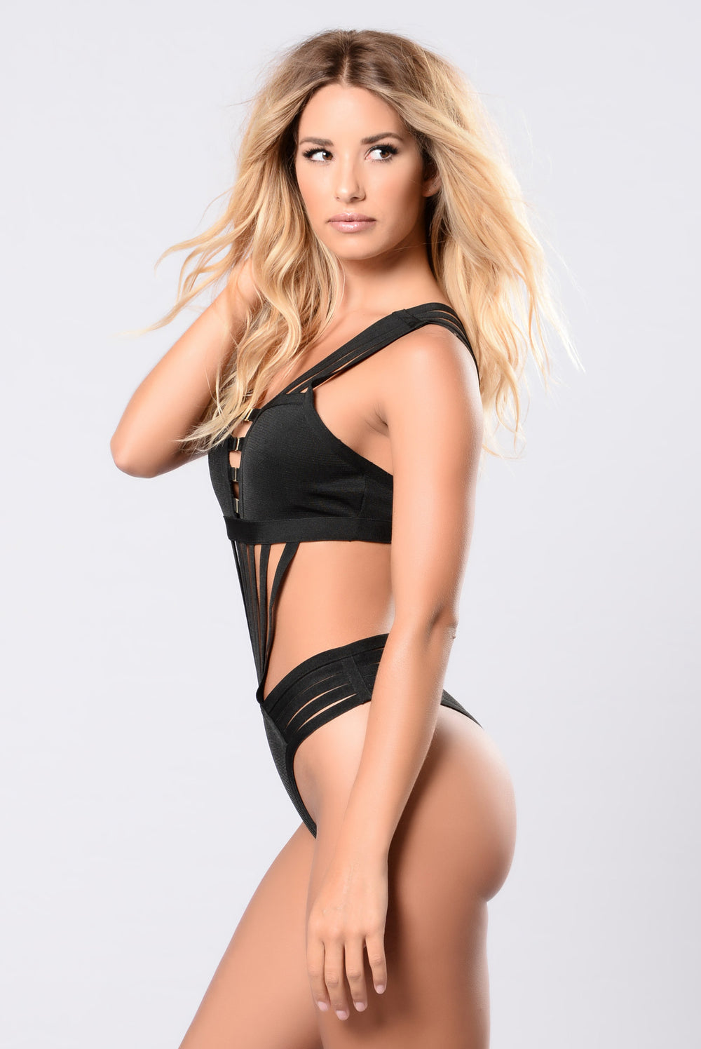 Savanna Swimwear Bandage Monokini - Black