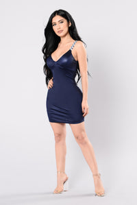 Dance 4 Eternity Dress - Navy Angle 4
