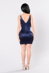 Dance 4 Eternity Dress - Navy Angle 3
