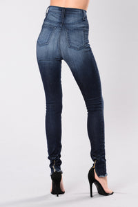 Go To You Excited Jeans - Indigo Angle 9