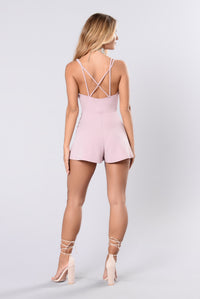 We Were Coastin Romper - Lavender