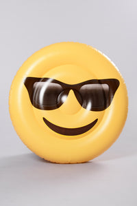 Just Smile Happy Face Pool Float - Yellow