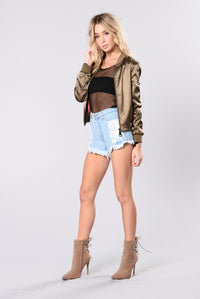You The Bomb Bomber Jacket - Olive