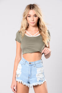 Wanted To Be Your Girl Top - Olive