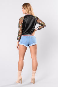 Garden of Love Jacket - Black