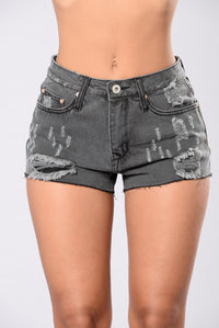 Call Me On A Lazy Afternoon Shorts - Black