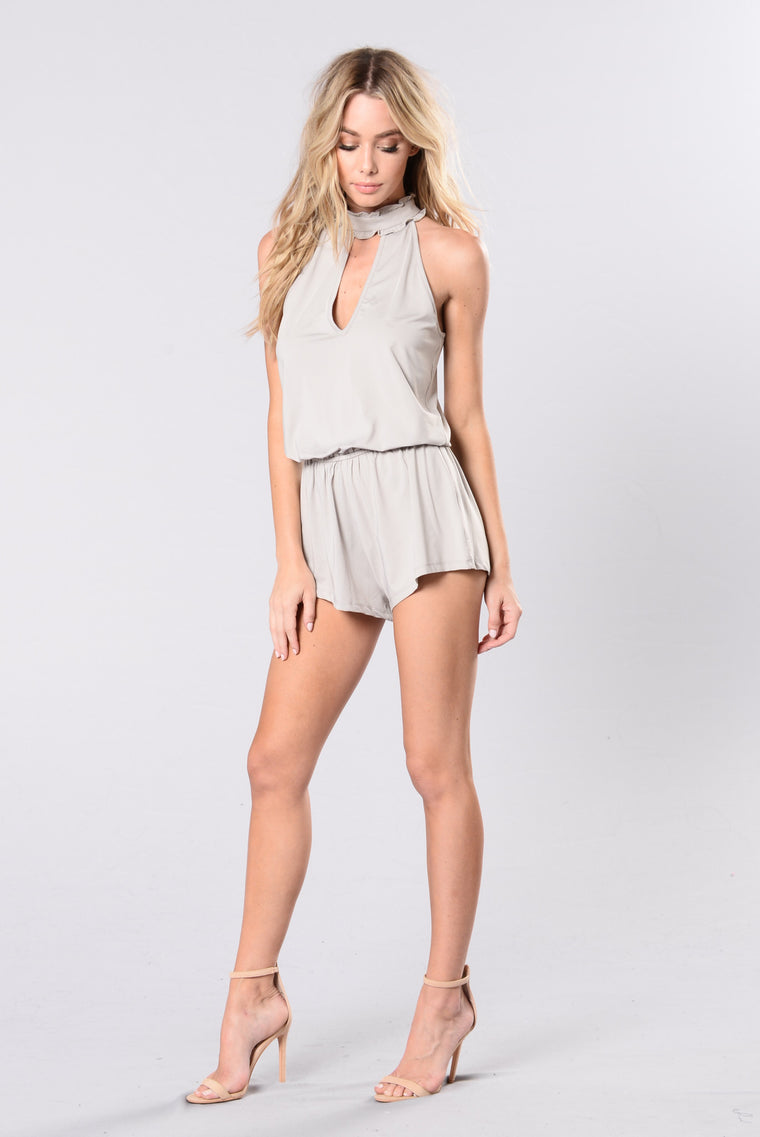 Playing Dress Up Romper - Dove