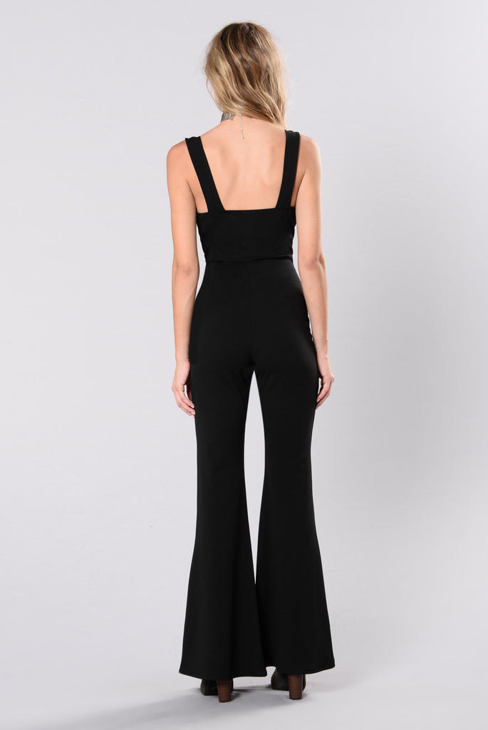 Undercover Lover Jumpsuit - Black