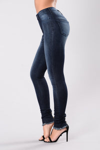 Go To You Excited Jeans - Indigo Angle 4