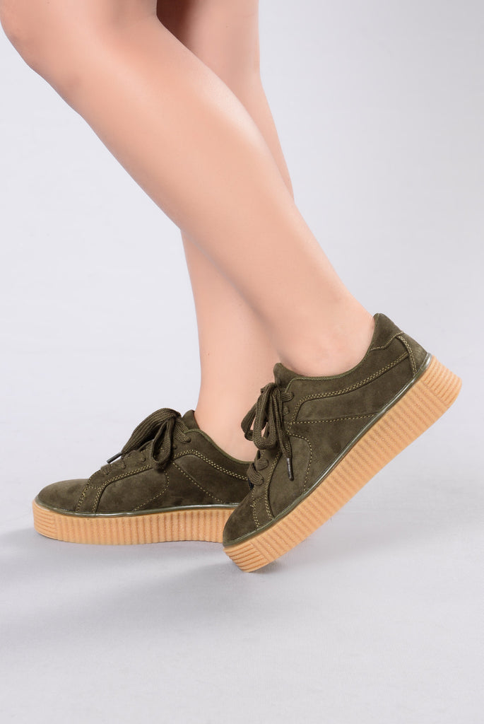 Old Stomping Grounds Sneakers - Olive
