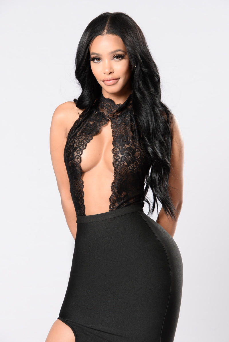 Dirty Work Teddy Bodysuit - Black