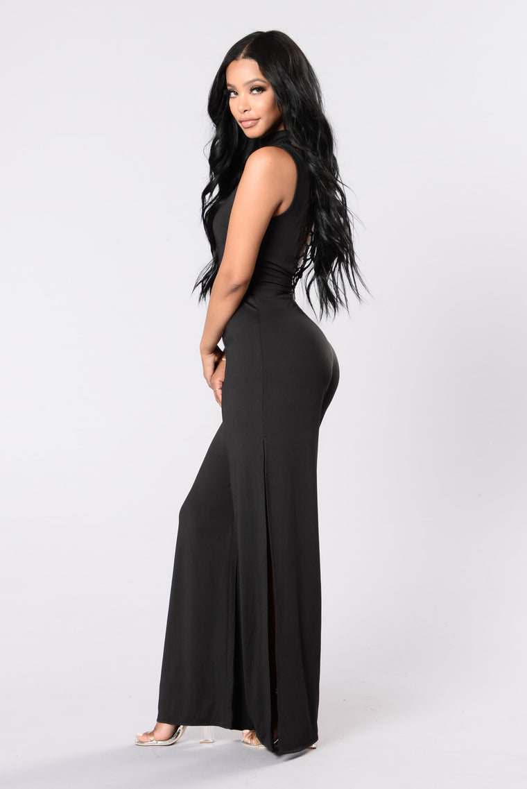 Shabby Chic Jumpsuit - Black