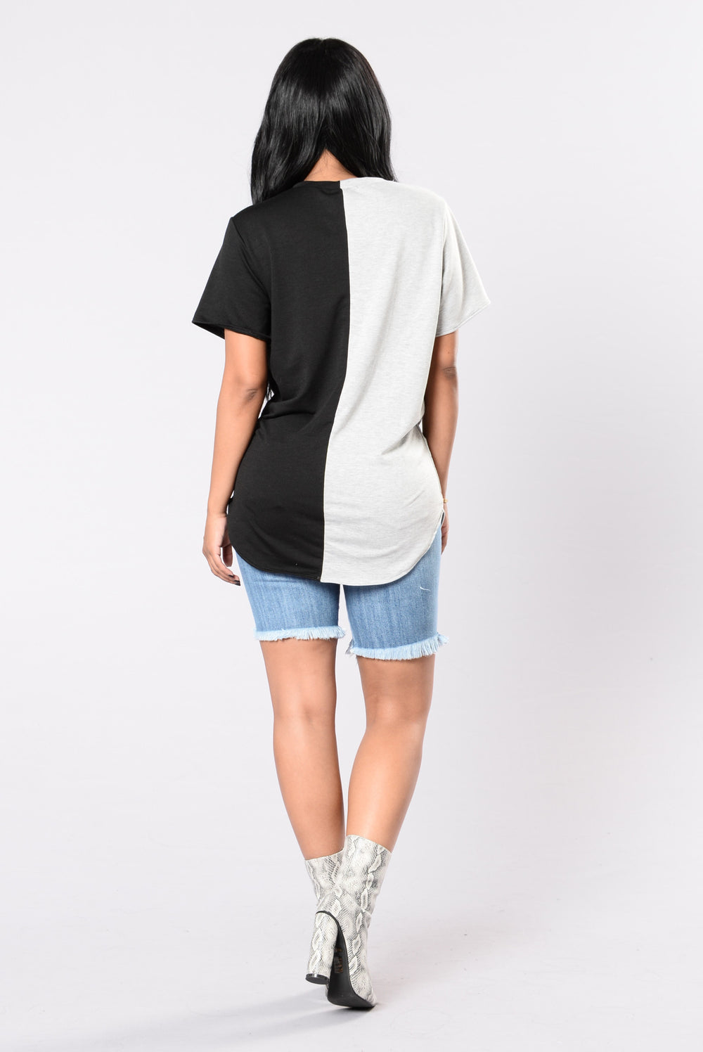 Coast To Coast Top - Grey/Black