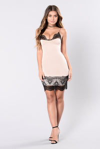 Be With Me Honey Dress - Pink/Black