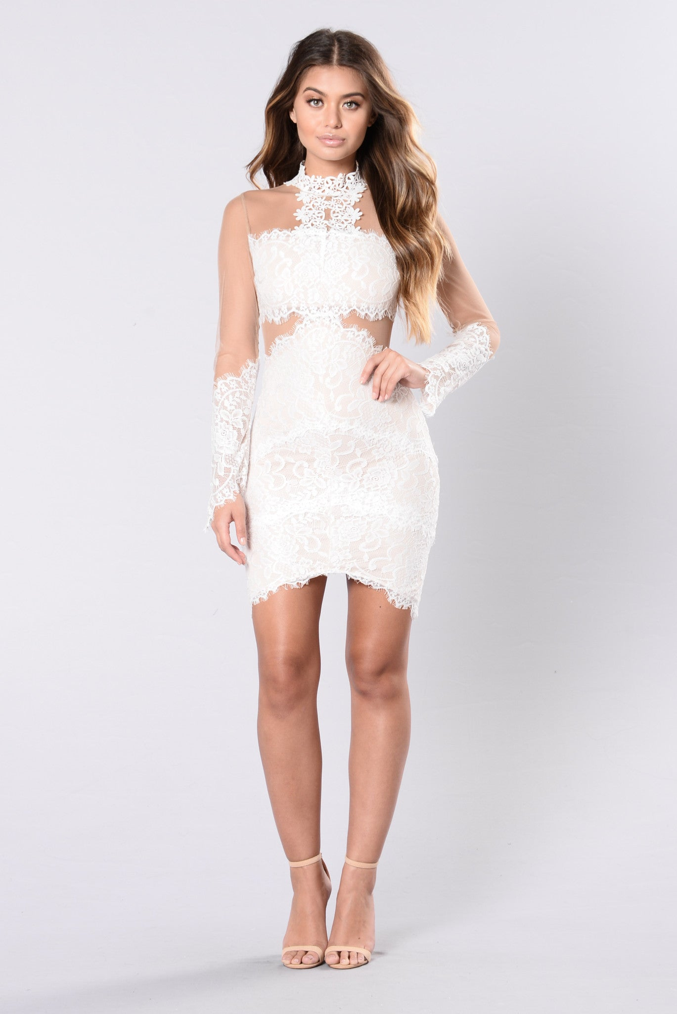 Waiting On The Summer Dress - White