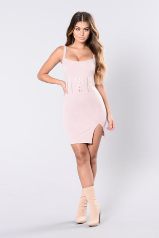 Stay A Little Bit Longer Dress - Dusty Rose