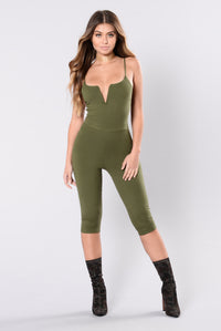 Young And In Love Jumpsuit - Olive