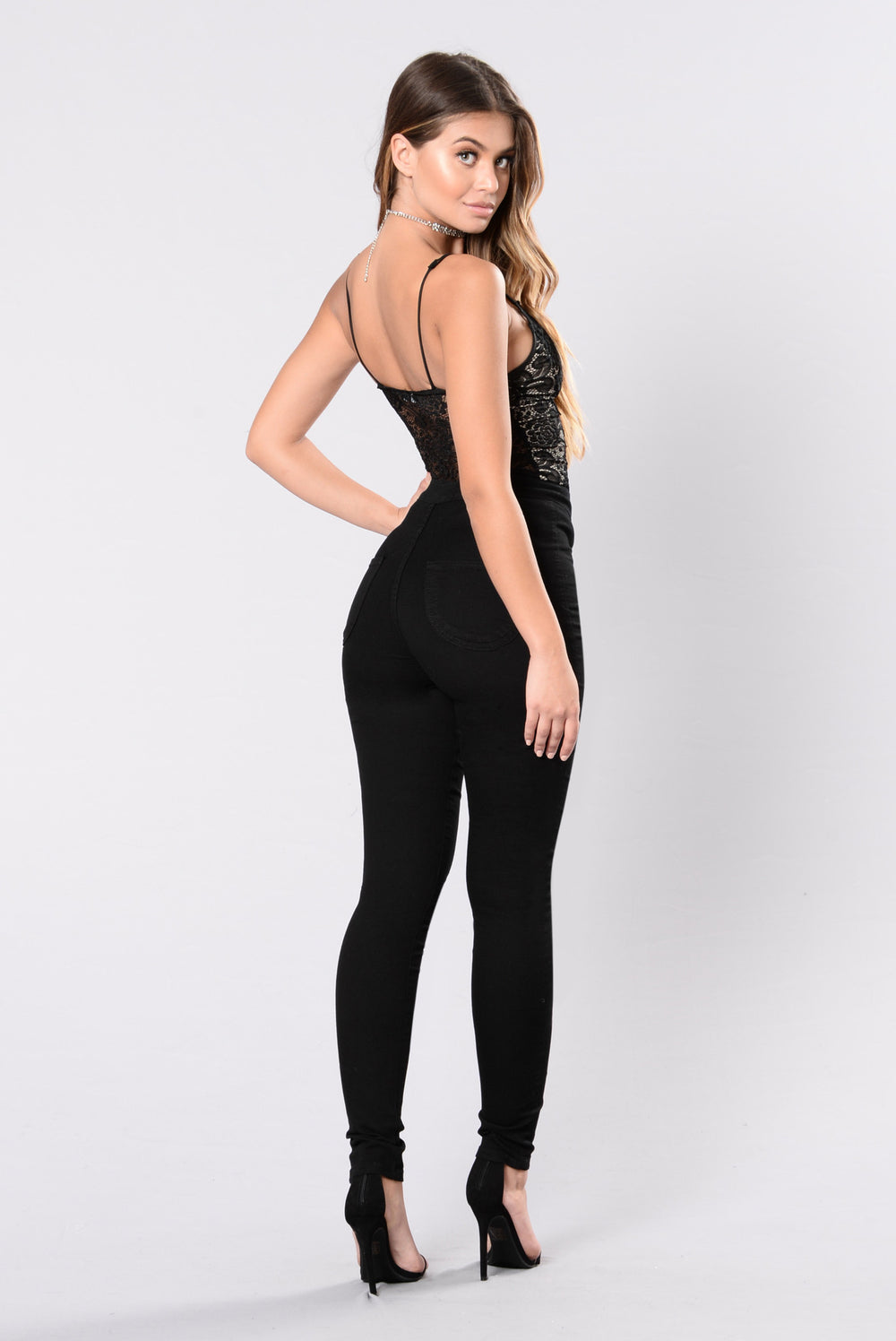 Turn Up On Me Bodysuit - Black