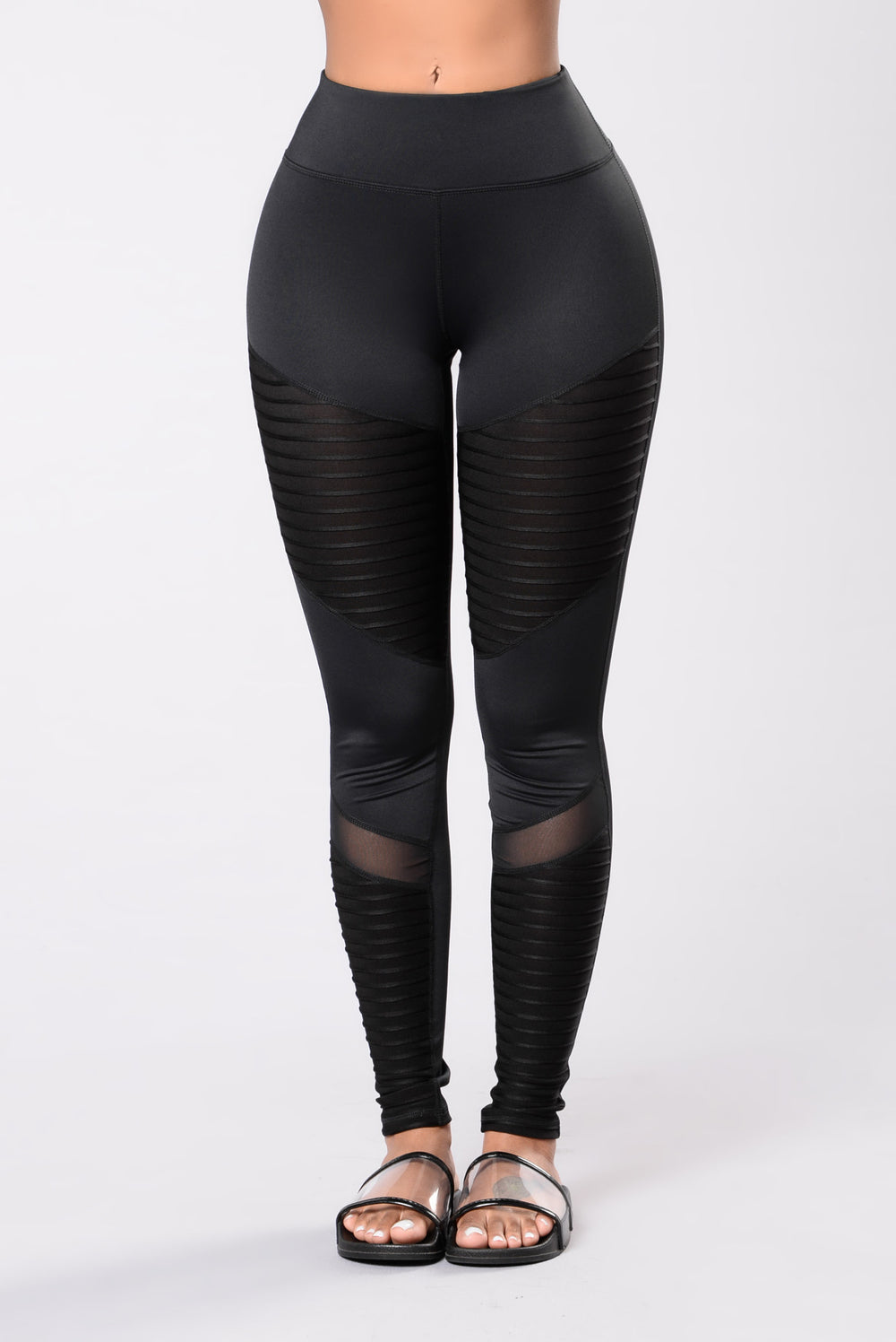 All black leggings for women
