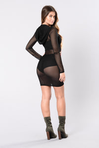 Tryna Work It Out Dress - Black Angle 4