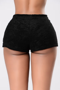 We Just Vibin Shorts - Black