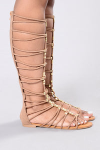 Cool It And Zip It Gladiator Sandal - Tan