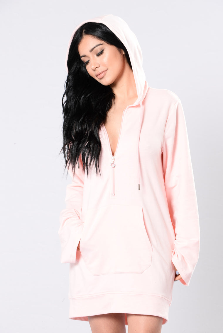 You Touch My Mind Tunic - Blush