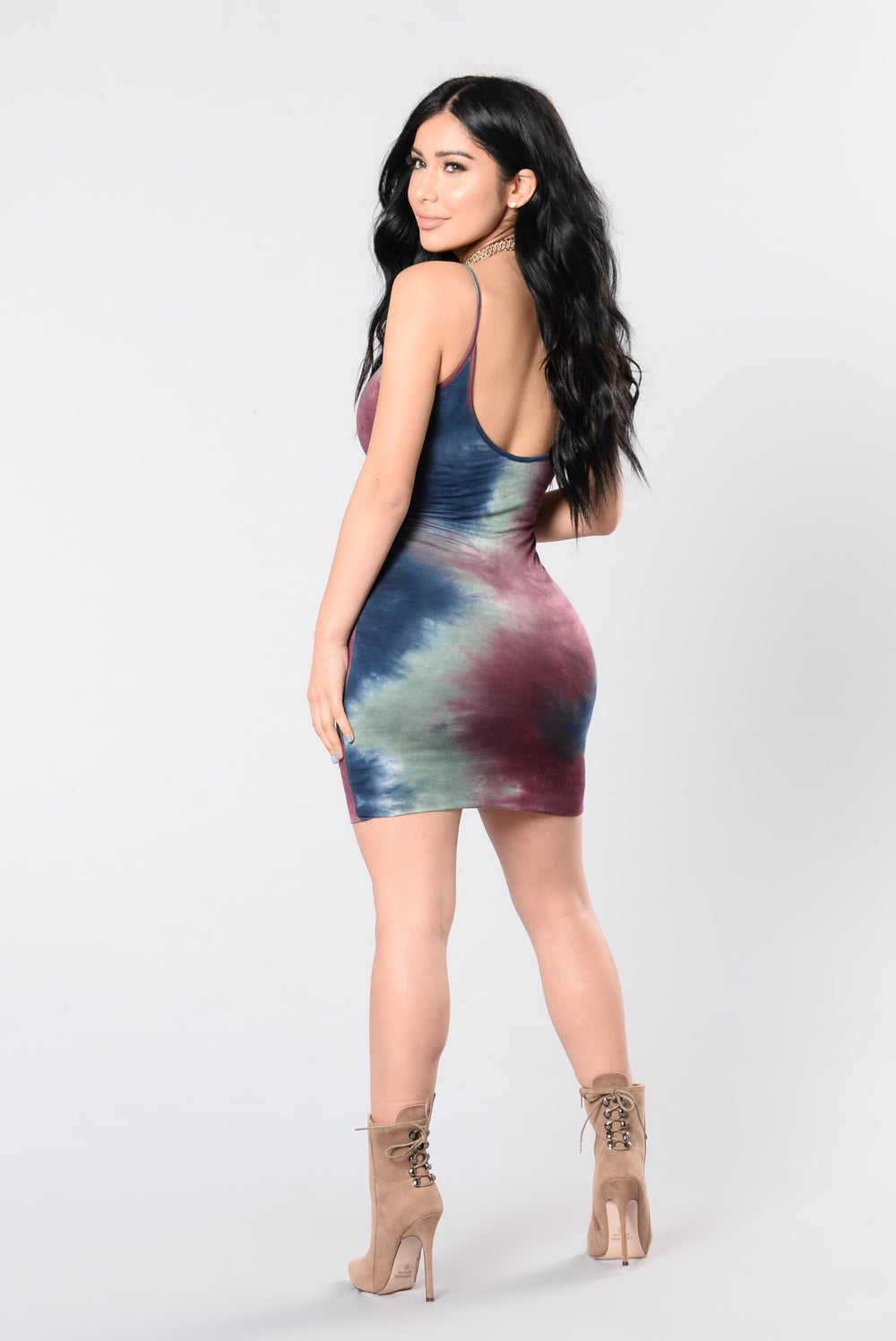 Right In Time Dress - Navy/Sage