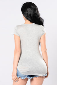 Sing To You Top - Heather Grey Angle 3