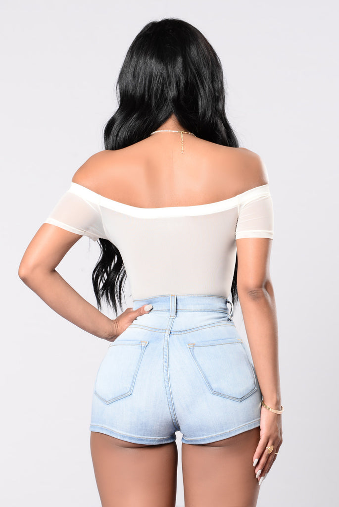 Stick Around Bodysuit - Ivory/Royal