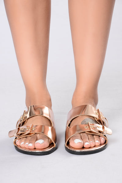 Lazy Daze Sliders - Rose Gold