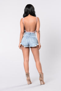 Swoop The Scoop Bodysuit - Mauve Angle 5